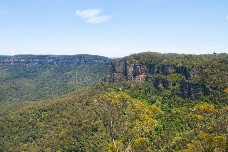 Australien NSW blåa berg royaltyfria bilder