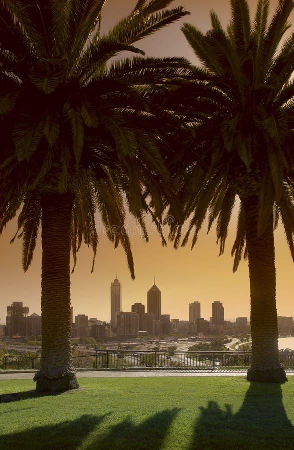 Australien perth horisont arkivbild