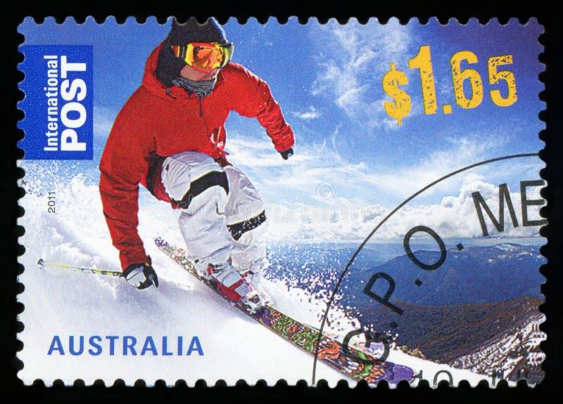 AUSTRALIEN - portostämpel arkivfoto