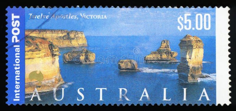 AUSTRALIEN - portostämpel royaltyfri fotografi
