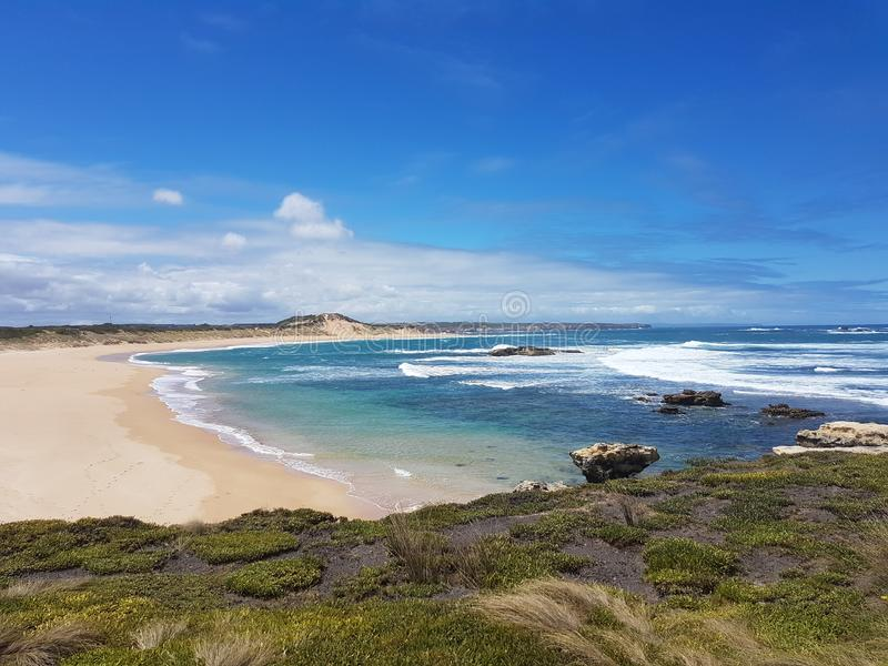 Australien-Reise-Strand-Ozean-Blau lizenzfreie stockfotos