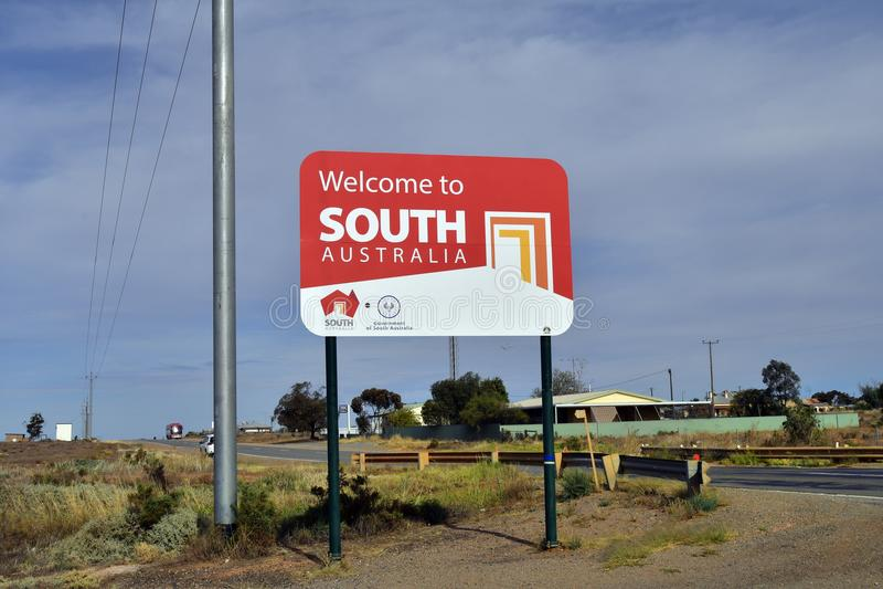 Australien, Süd-Australien, Grenze lizenzfreie stockbilder