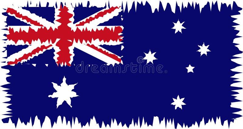 Australien sjunker stylized