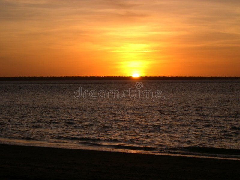 Australien solnedgång royaltyfria bilder