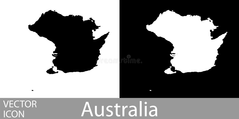Australien specificerade översikten vektor illustrationer