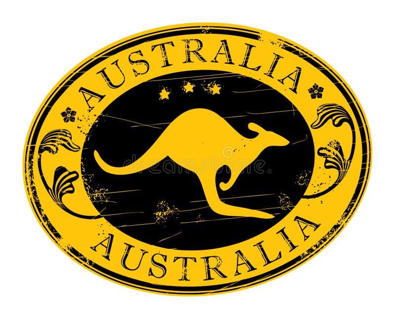 Australien stämpel royaltyfri illustrationer