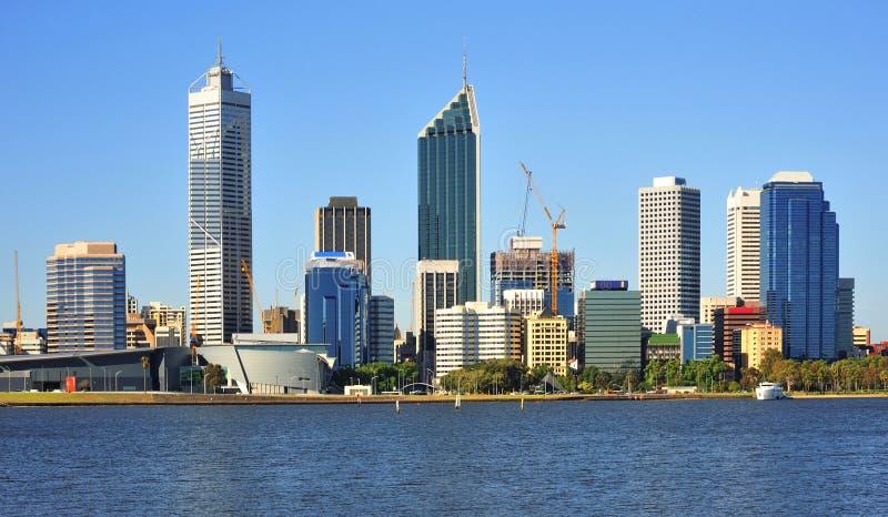Australien-Stadt der Perth-panoramischen Ansicht stockbilder