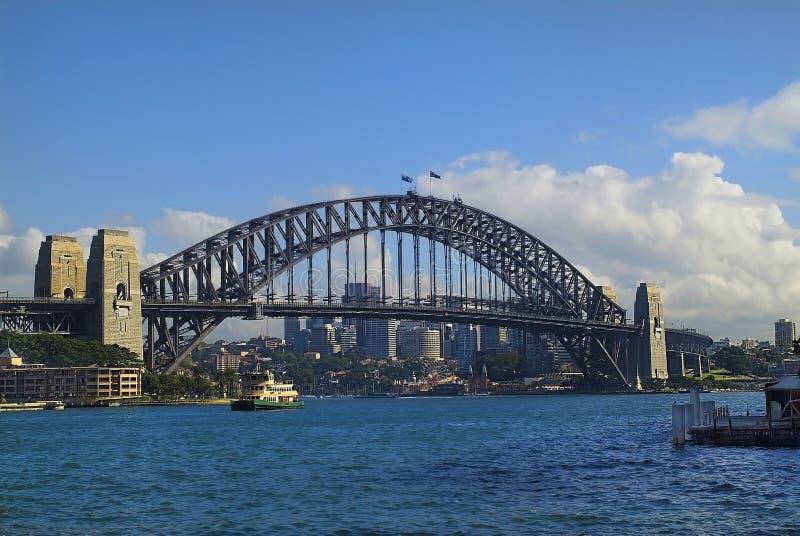 Australien, Sydney, Hafen-Brücke lizenzfreie stockfotos