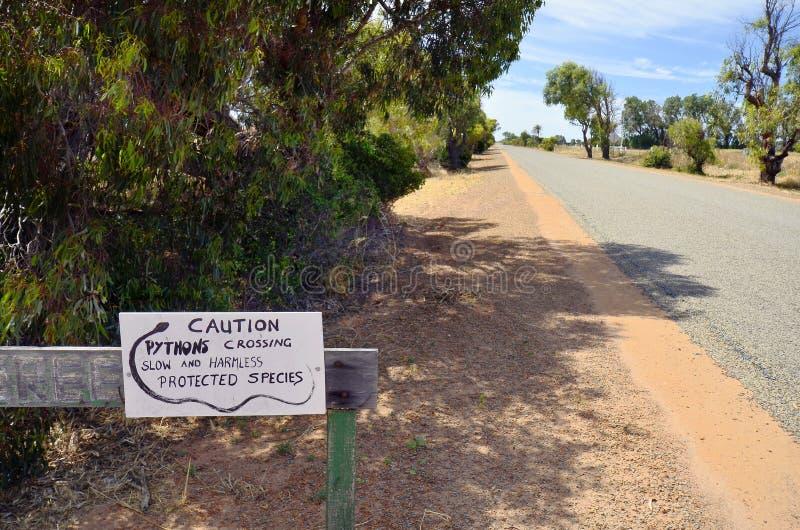 Australien västra Australien, slingrar arkivbild