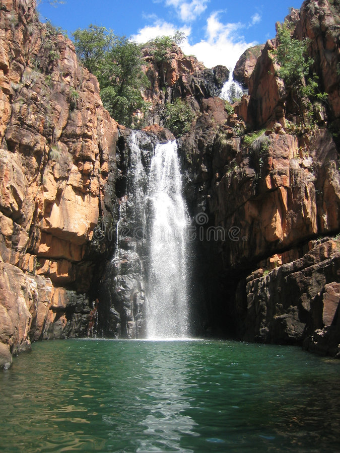 Australien vattenfall royaltyfri fotografi