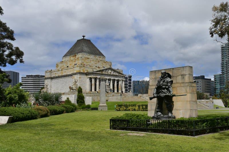 Australien, Victoria, Melbourne, Schrein der Erinnerung lizenzfreie stockbilder