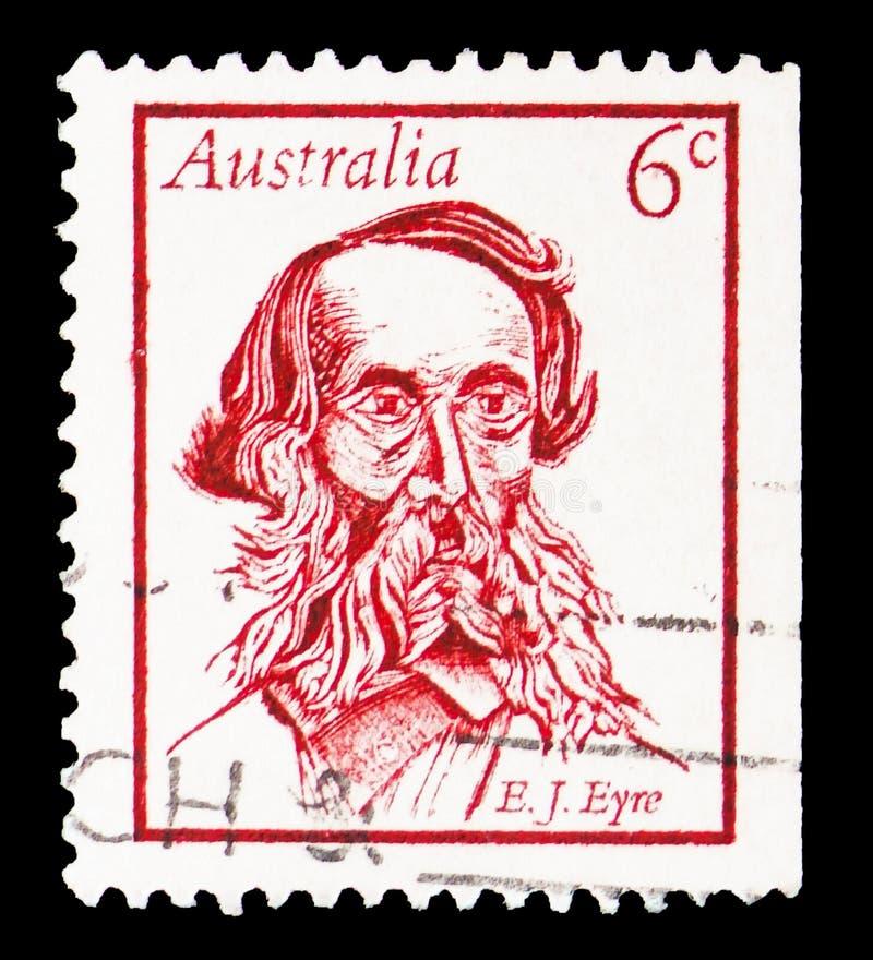 Australiens célèbres - Edward John Eyre, serie, vers 1970 image libre de droits