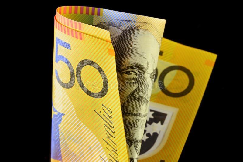 australiensisk anmärkning för dollar femtio royaltyfria bilder