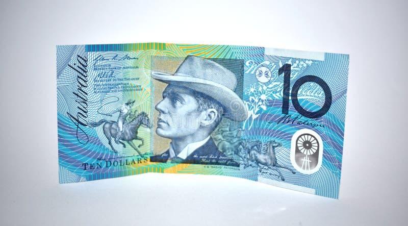 australiensisk dollaranmärkning tio royaltyfri foto