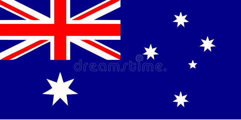 australiensisk flagga stock illustrationer