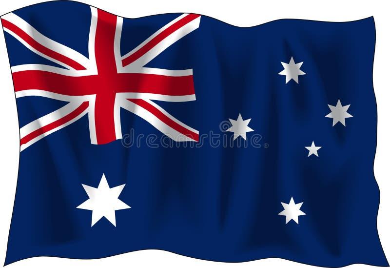 australiensisk flagga royaltyfri illustrationer