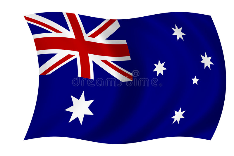 australiensisk flagga royaltyfri illustrationer