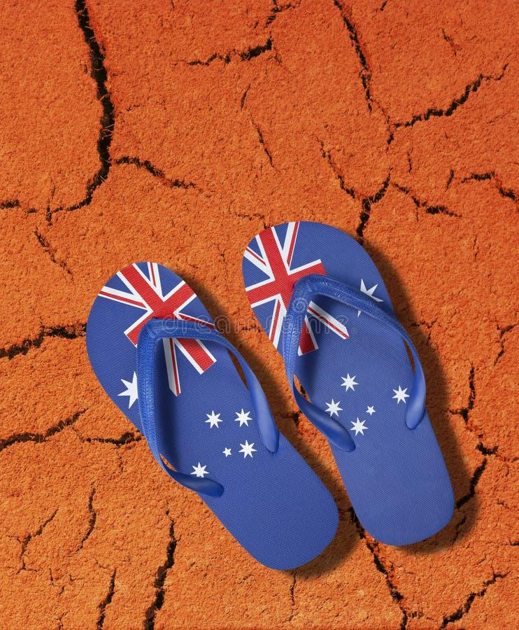 australiensisk flaggabadskor arkivbild