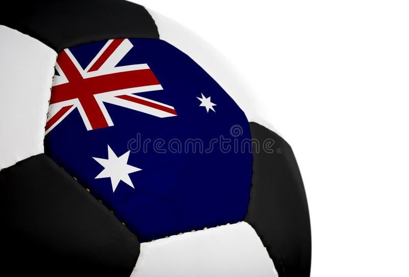 australiensisk flaggafotboll arkivfoton