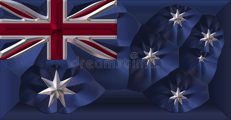 australiensisk flaggametall stock illustrationer