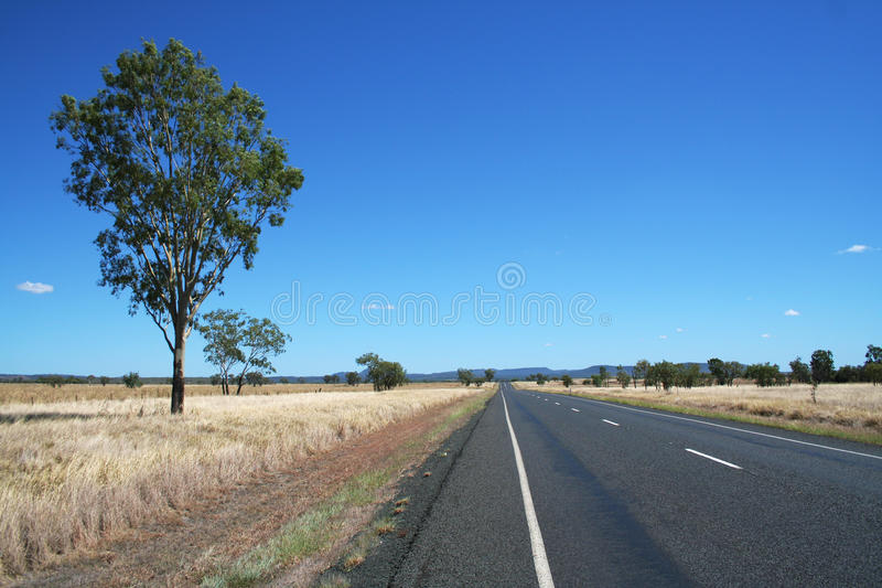 australiensisk huvudväg arkivbild