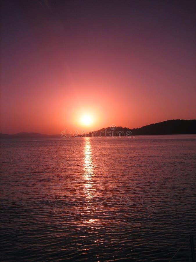 australiensisk solnedgång royaltyfri fotografi