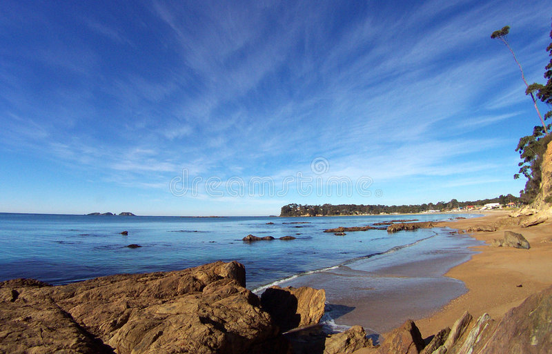 Download Australiensisk strand arkivfoto. Bild av kust, bränning - 44174
