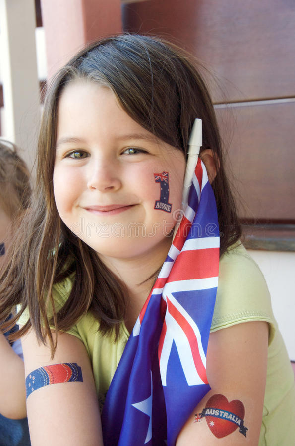 australiensisk supporter arkivbilder