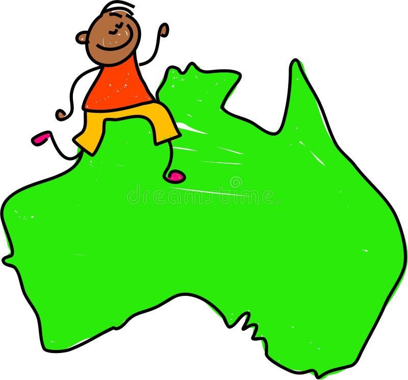 australiensisk unge royaltyfri illustrationer