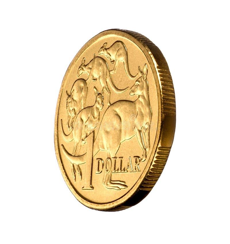 australiensiska myntdollarpengar en royaltyfria bilder