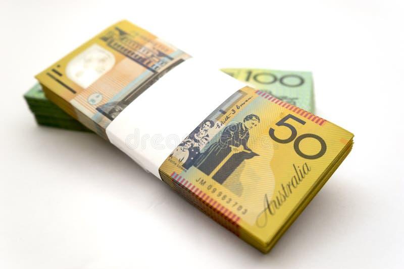 australiensiska pengar royaltyfria bilder