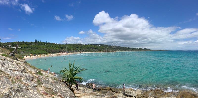 australiensiskt strandparadis arkivbilder