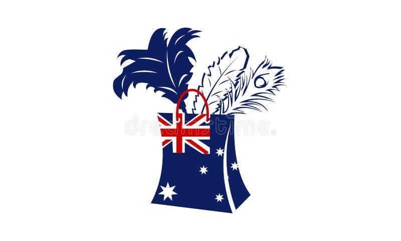 Australier dammat av toppet lager för fjäder stock illustrationer