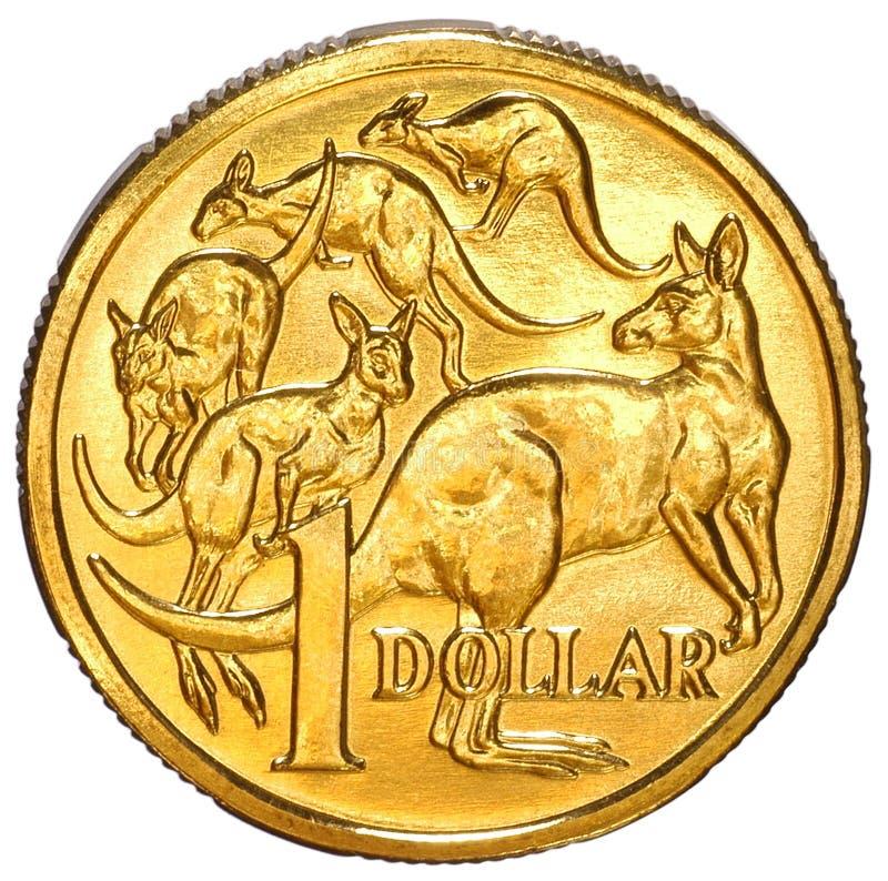 Australier eine Dollar-Münze stockfotografie