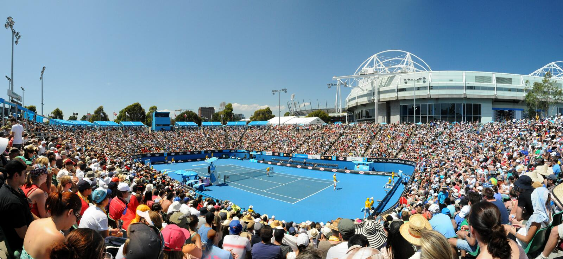 Australier-geöffnetes Tennis stockbilder