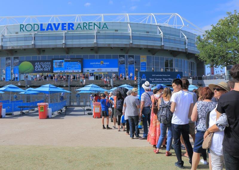 Australier-geöffnetes Tennis lizenzfreie stockfotos