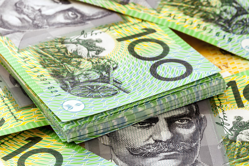 Australier hundert Dollarscheine stockbild