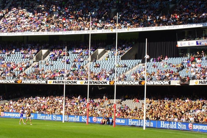 Australier ordnet Fußball an lizenzfreies stockbild