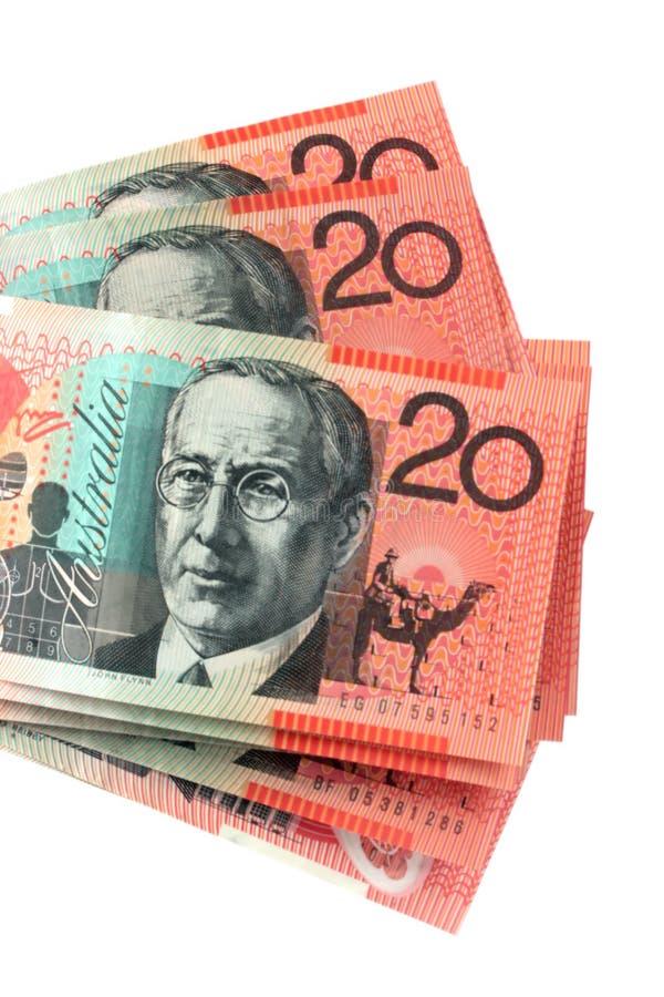 Australier Zwanzig Dollar-Anmerkungen stockfoto