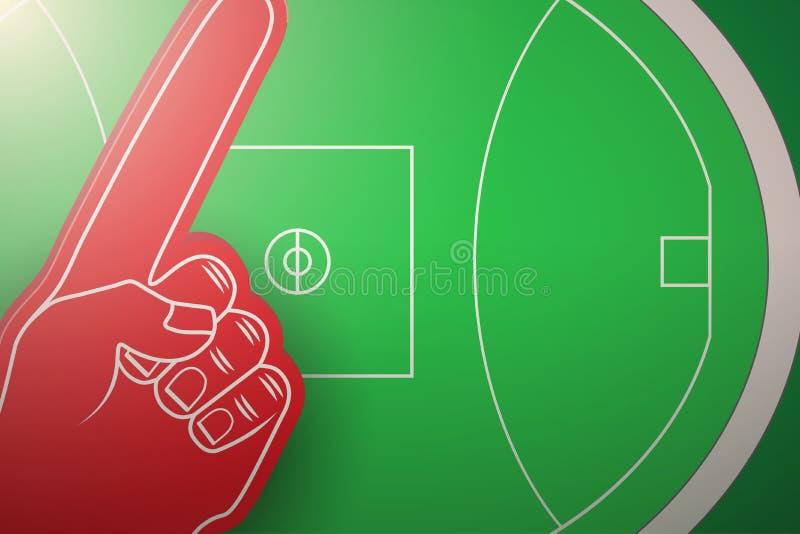 Australiern härskar stadion för fotbollfältet royaltyfri illustrationer