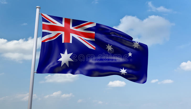 australijczyk flaga royalty ilustracja