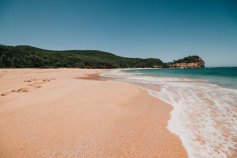 Australijczyk plaża w Maitland zatoce, Nowe południowe walie Australia obrazy stock