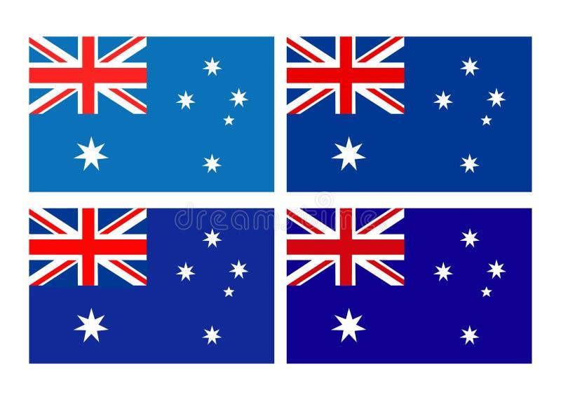 Australijczyk zaznacza - kraju Australijski kontynent royalty ilustracja