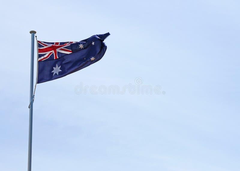 Australijczyka chorągwiany latanie w niebie obraz stock