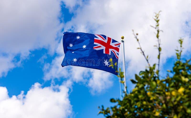 Australijczyka Chorągwiany latanie w wiatrze zdjęcia royalty free