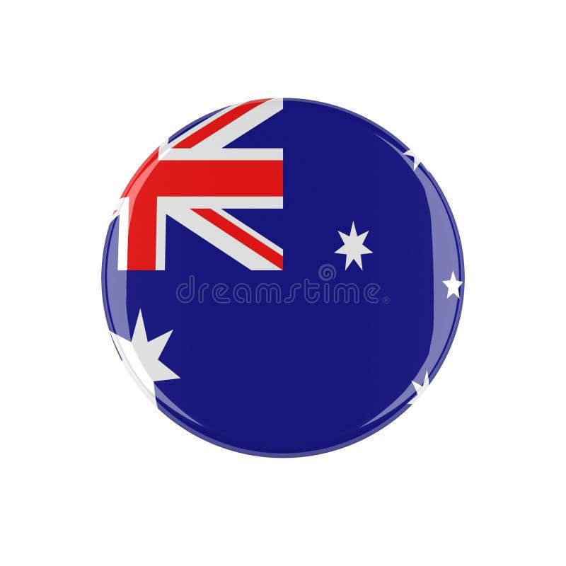 Australijczyka 3d guzik royalty ilustracja