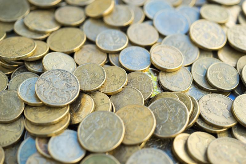 Australijczyka Jeden I Dwa Dolarowe monety zdjęcie royalty free
