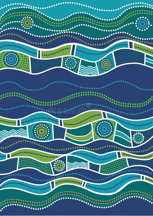 Australijczyka wzór ilustracja wektor