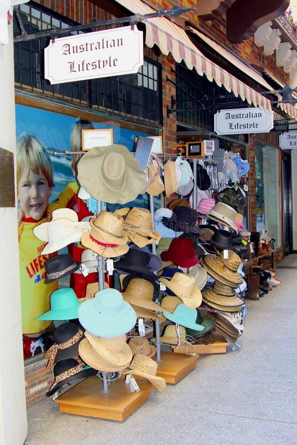 Australijscy kapelusze, Australijski styl życia w Perth fotografia royalty free