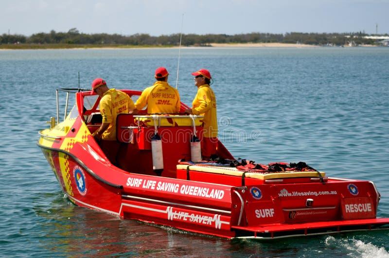 Australijscy ratownicy w złota wybrzeżu Queensland Australia zdjęcie royalty free